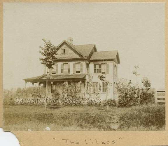 """""""The Lilacs"""" - Home of Professor Maurice Francis Egan at 1136 N. Notre Dame Avenue, c1890s"""